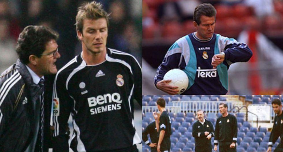 Estos son los entrenadores que Lorenzo Sanz tuvo durante su mandato en Real Madrid.
