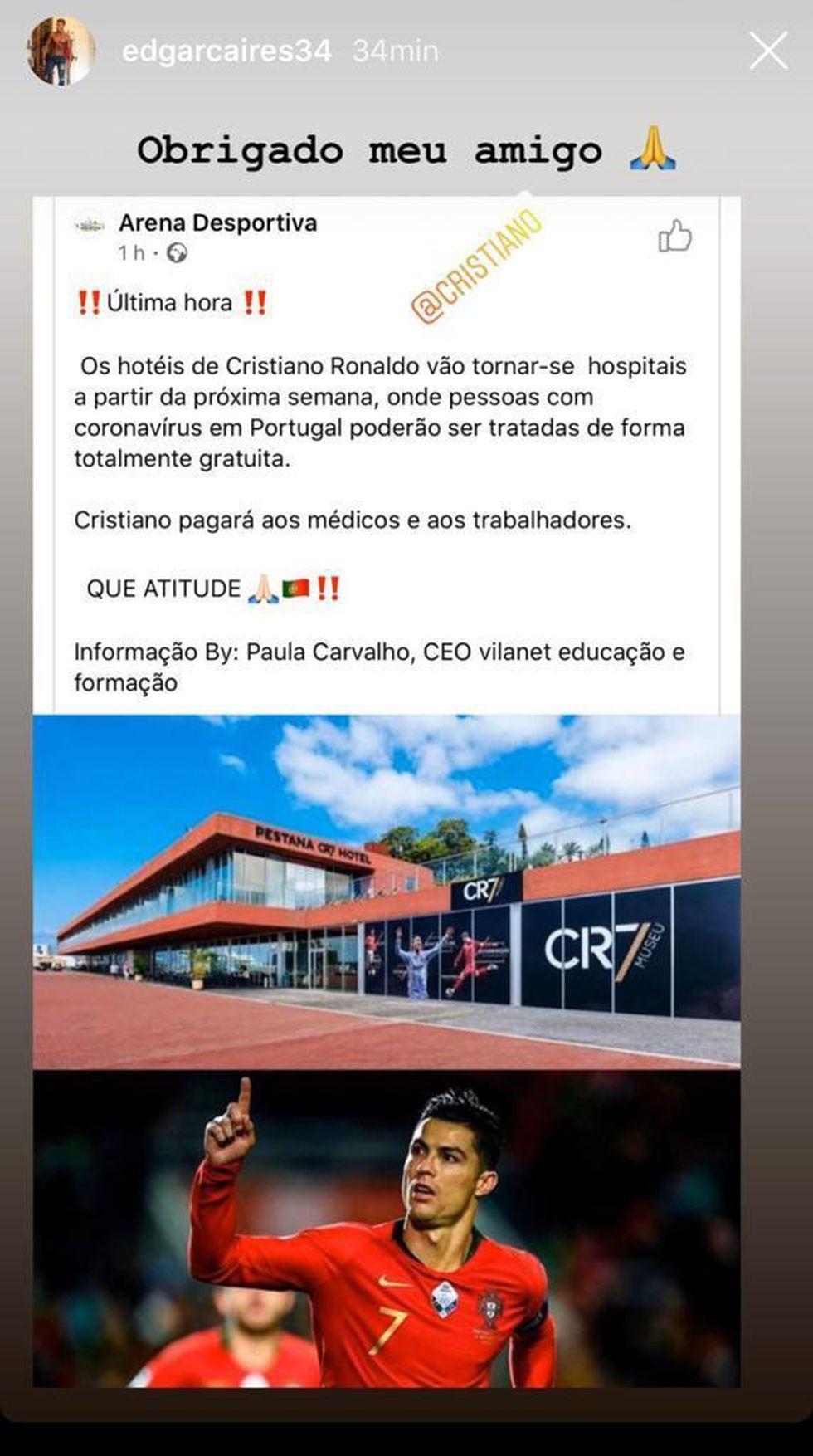Cristiano es fundador y dueño de la cadena de hoteles Pestana. (Captura)