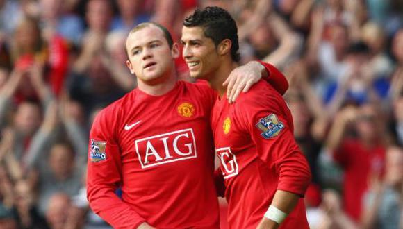 Cristiano Ronaldo y Wayney Rooney jugaron juntos en el Manchester United durante el 2004-2009. (Foto: Getty)