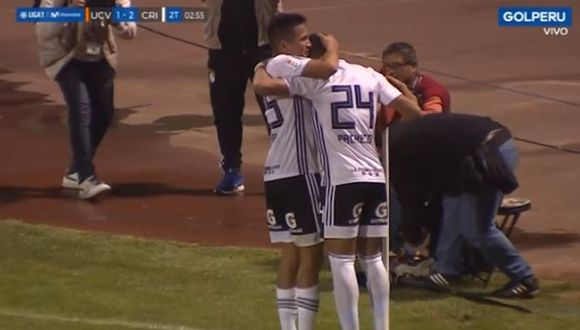 Pacheco le dio vuelta al Sporting Cristal vs. César Vallejo (Captura)