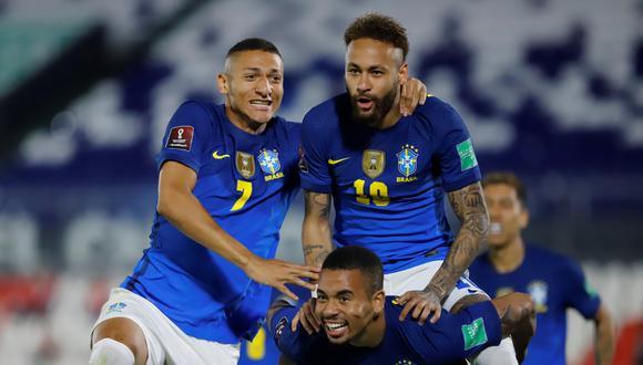 Neymar abrió el marcador y se ubicó como máximo artillero de las Eliminatorias Qatar 2022, junto al boliviano Marcelo Moreno Martins. (Foto: Agencias)
