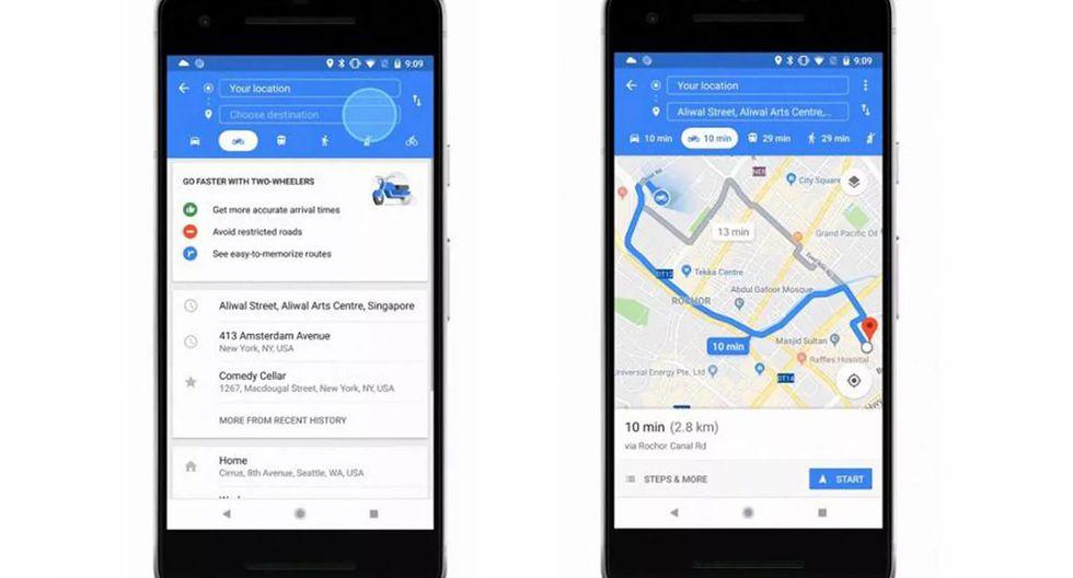 """¿Deseas obtener el """"modo motocicleta"""" de Google Maps? Entonces esto debes hacer. (Foto: Google)"""