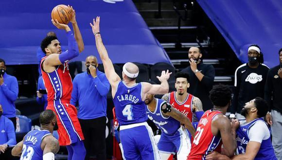 """Jugador de 76ers a El Comercio: """"La canasta ganadora frente a Lakers fue un gran momento para mí""""   Foto: AFP"""