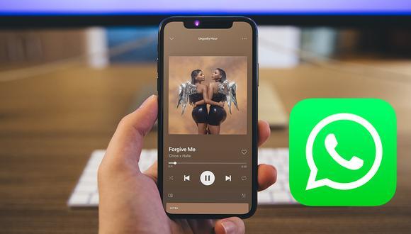 Así es como puedes colocar música de Spotify en tus estados de WhatsApp. (Foto: Depor)