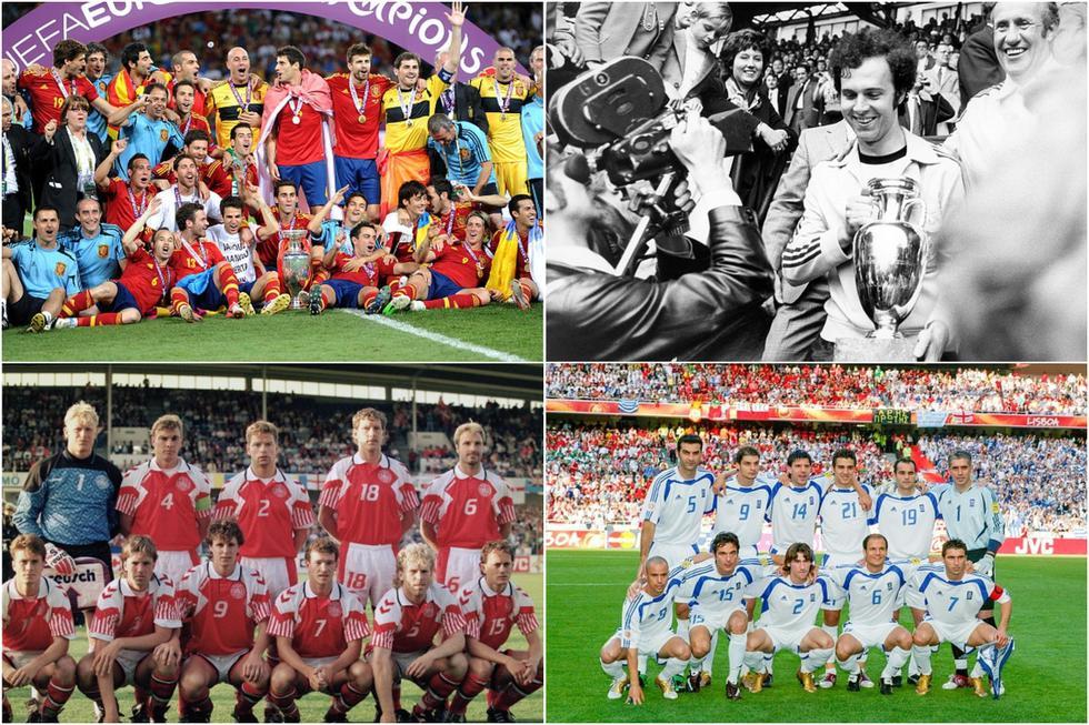 Los campeones de la Eurocopa desde su creación en 1960. (Getty)