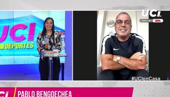 Pablo Bengoechea y su nueva apariencia en cuarentena. (UCI Noticias)
