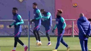 El Barcelona prepara el primer partido del año ante el Huesca