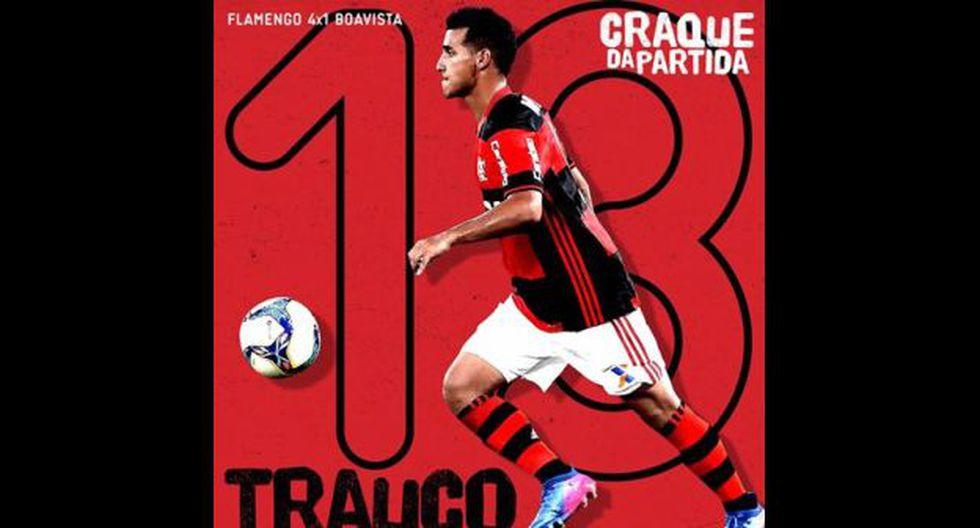 Miguel Trauco debutó con un gol y dos asistencias (Flamengo).