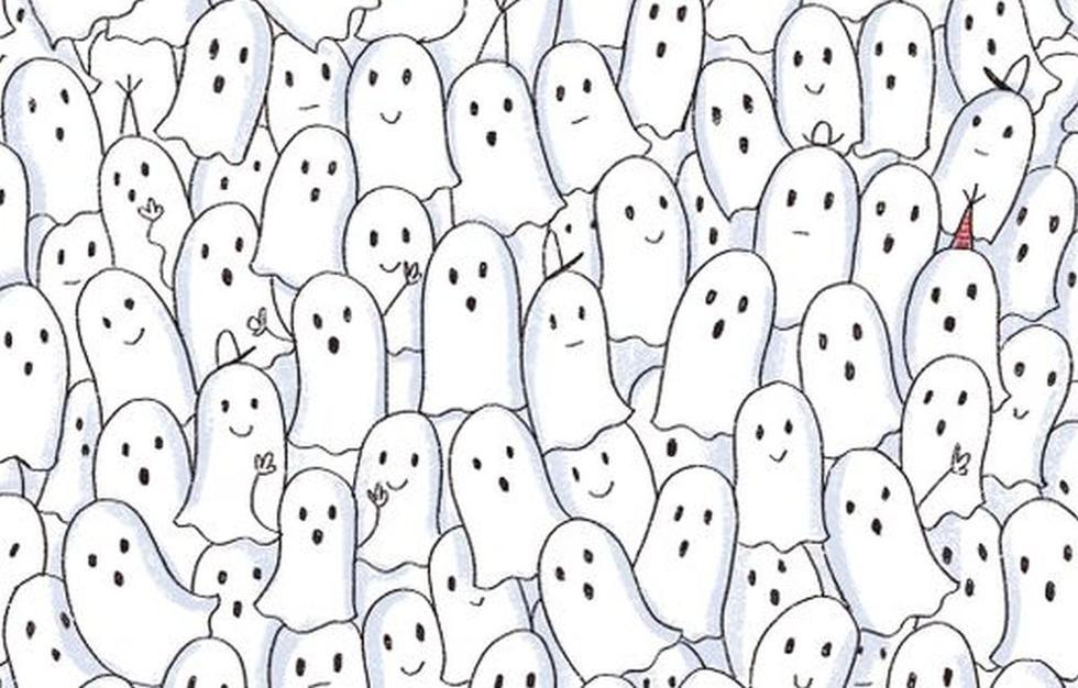 Encuentra a la foca escondida entre los fantasmas de este reto visual (Foto: Facebook).