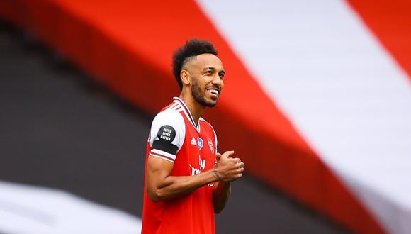 Pierre-Emerick Aubameyang podría reaparecer en el Arsenal el sábado. (Foto: AFP)