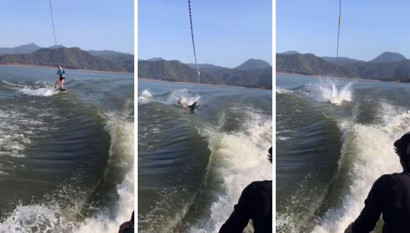 Angelique Boyer compartió con humor el accidente que tuvo en el mar haciendo esquí acuático. (Foto: Instagram / @angeliqueboyer).