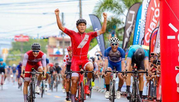Alaín Quispe corrió con la dorsal número 18 en la Vuelta a Chiriquí 2019 en Panamá. (Fepaciclismo)