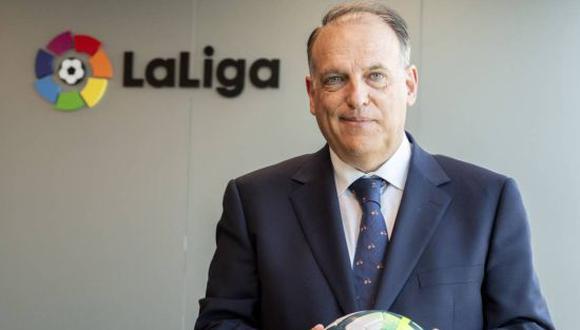 Javier Tebas es el presidente de LaLiga Santander tras ser reelegido para un tercer mandato hasta 2024. (Foto: Getty)