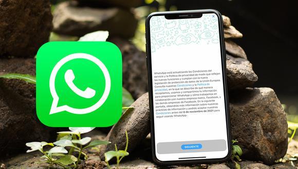 Si no aceptas las nuevas políticas de WhatsApp antes del 6 de noviembre, conoce qué es lo que pasará en tu celular. (Foto: Depor)