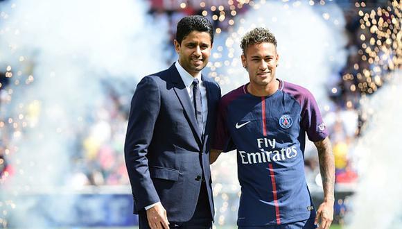 Nasser Al Khelaifi llevó al PSG a Neymar en el verano de 2017. (Getty)