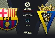 A qué hora ver Barcelona - Cádiz EN VIVO hoy: TV para ver partido de LaLiga