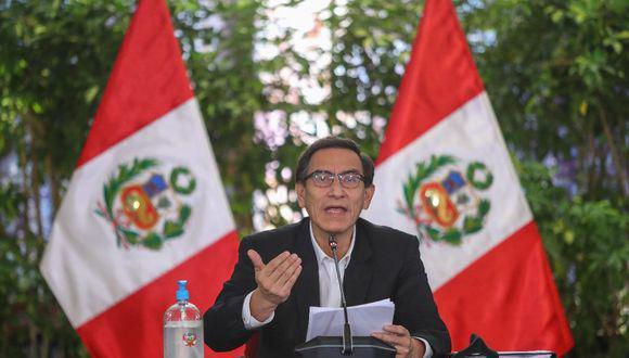 El presidente anunció que el Perú está en contacto con varios laboratorios del mundo. (Foto: PCM)
