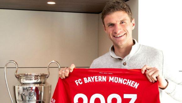 Bayern Munich renovó el contrato de Thomas Müller hasta 2023. (Bayern Munich)