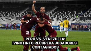 Perú vs. Venezuela: jugadores de la Vinotinto se recuperan del COVID-19 y ya entrenan con su selección