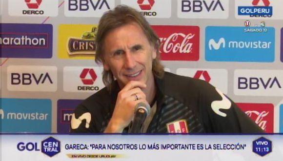 Ricardo Gareca casi revela el arquero titular ante los 'charrúas' y la prensa estalló en risas. (Video: GOLPERU)