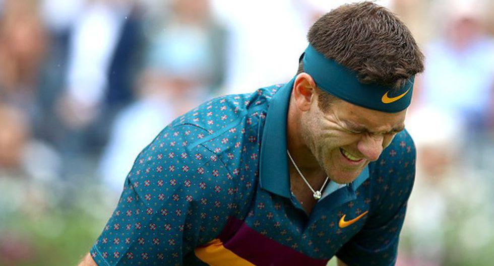 Juan Martín del Potro venció a Denis Shapovalov en el ATP 500 de Queen's, pero se lesionó. (Getty Images)