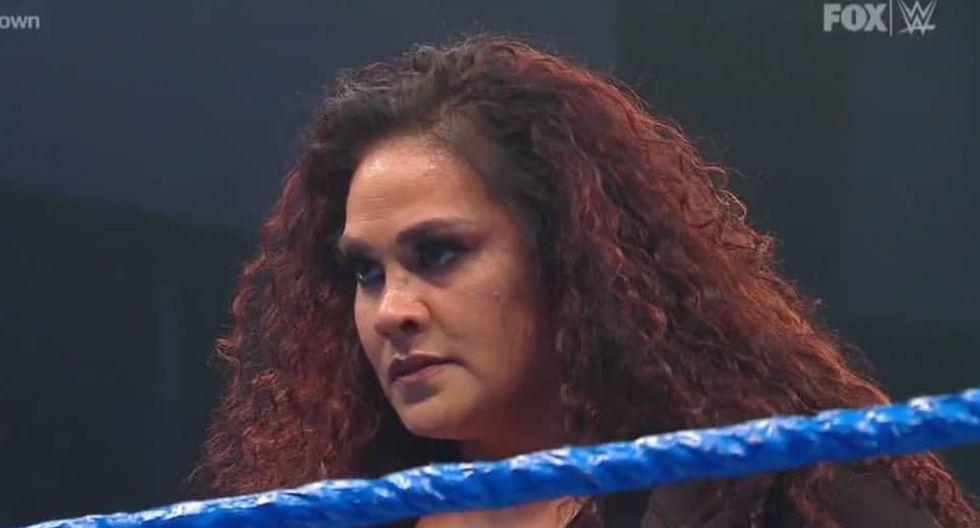 Tamina atacó a Naomi y a Lacey Evans, y asustó a la campeona femenina Bayley y a Sasha Banks. Las cinco peleará en WrestleMania 36 por el cinturón de la exchica de los abrazos. (Foto: WWE)