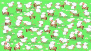 Desafío visual: Ayuda a encontrar la gallinita entre todas las ovejas