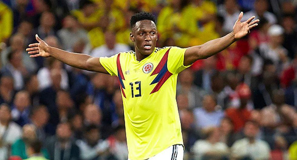 Yerry Mina fue la gran figura de Colombia en el Mundial Rusia 2018.