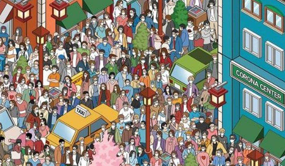 Encuentra a las personas sin mascarilla en desafío viral asiático. (Kicotoon)