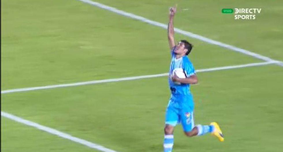 Héctor Zeta marcó el gol del descuento a favor de Binacional por la Copa Sudamericana. (Captura)