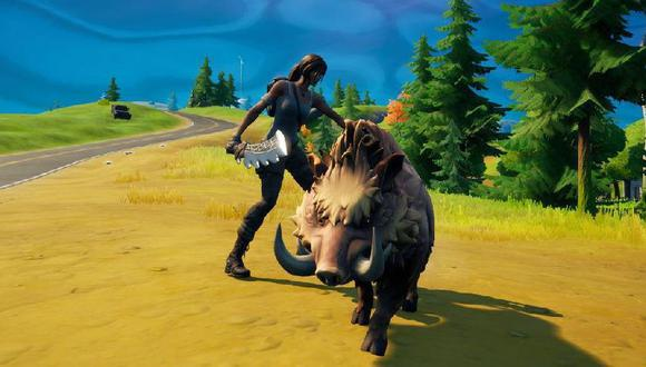 Así los jugadores de Fortnite podrán montar dinosaurios y lobos en la Temporada 8
