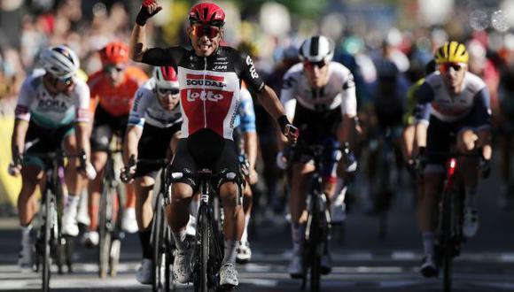 Caleb Ewan ganó la tercera etapa del Tour de Francia 2020. (Difusión)