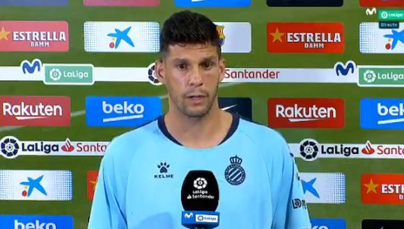 Javi López y las declaraciones tras el descenso del Espanyol ante Barcelona. (Movistar LaLiga)
