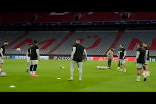 El Atlético de Madrid prepara su encuentro contra el Bayern de Múnich