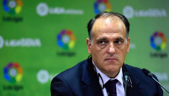 El presidente de LaLiga aseguró que no hará excepciones con Messi en el Barcelona. (Foto: AFP)
