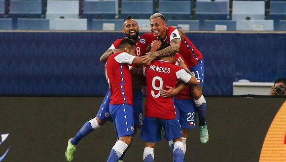 Chile logró su primer triunfo con Martín Lasarte como entrenador. | Foto: AFP