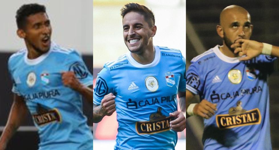 Los goleadores de Sporting Cristal en 2021. (Foto: Liga 1)
