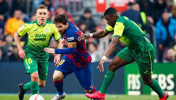 Lionel Messi marcó cuatro goles al Eibar en victoria del Barcelona. (Getty)