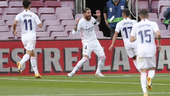 Con goles de Federico Valverde, Sergio Ramos y Luka Modric, Real Madrid venció de visita al Barcelona por LaLiga. (AFP)
