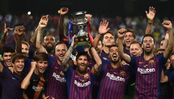 Barcelona consiguió la supercopa 2018-2019. (Foto: AFP)