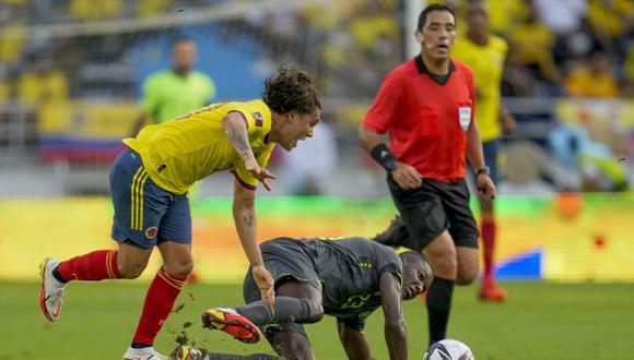 Ecuador igualó 0-0 con Colombia en el duelo por la Jornada 12 de las Eliminatorias Qatar 2022. (Foto: AFP)