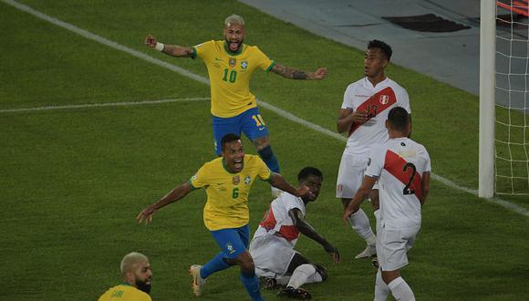 Perú perdió por 4-0 ante Brasil en la segunda fecha del grupo B de la Copa América 2021. | Foto: AFP