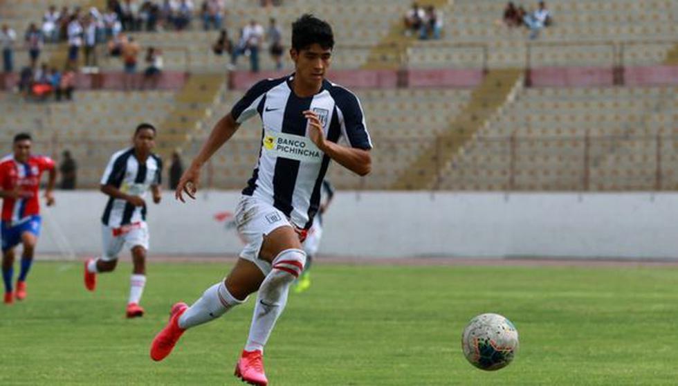 Sebastián Cavero debutó con Alianza Lima en el duelo ante Melgar, por la Liga 1. (Foto: GEC / Prensa AL)