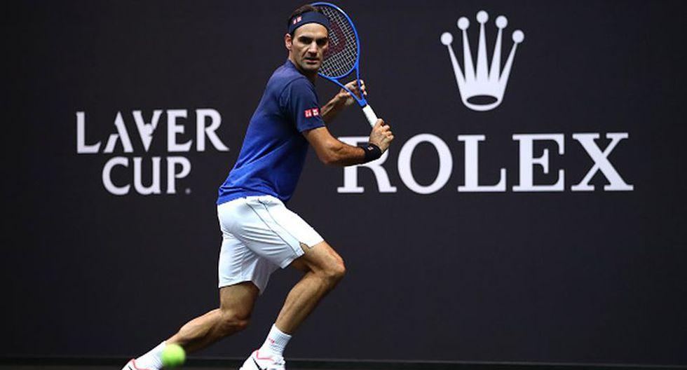 Roger Federer durante uno de sus entrenamientos a días de iniciar la Davis Cup. (Foto: Getty Images)