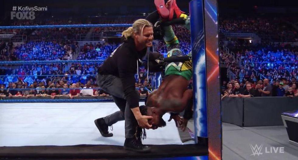 Dolph Ziggler atacó a Kofi Kingston por la espalda. (WWE)