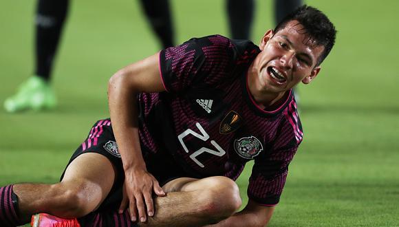 Hirving Lozano se lesionó con México durante su debut en la Copa Oro 2021 (Foto: Getty Images)