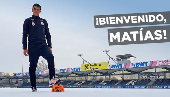 Matías Succar es el nuevo fichaje de Lask Linz. (Foto: @LASK_Official)
