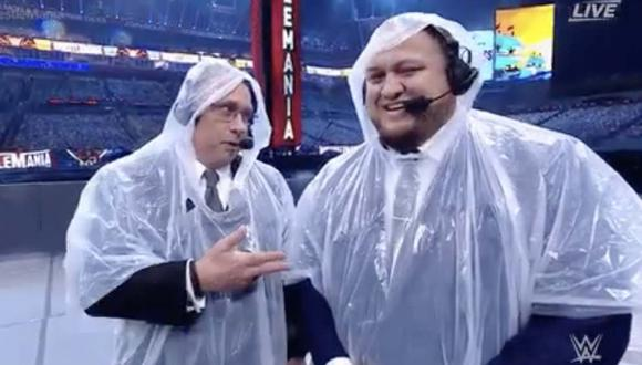El mal tiempo provocó un retraso en el inicio de Wrestlemania 37. (Foto: WWE)
