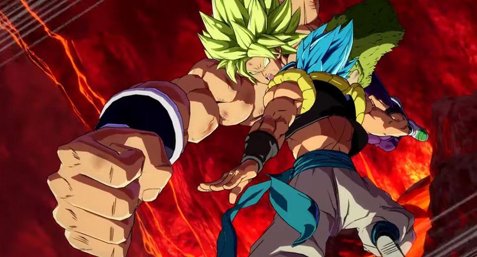 """""""Dragon Ball FighterZ"""": Mira la increíble pelea entre Gogeta vs Broly en el videojuego"""