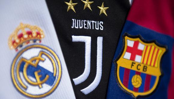 Real Madrid, Barcelona y Juventus son los clubes fundadores de la Superliga de Europa. (Getty)